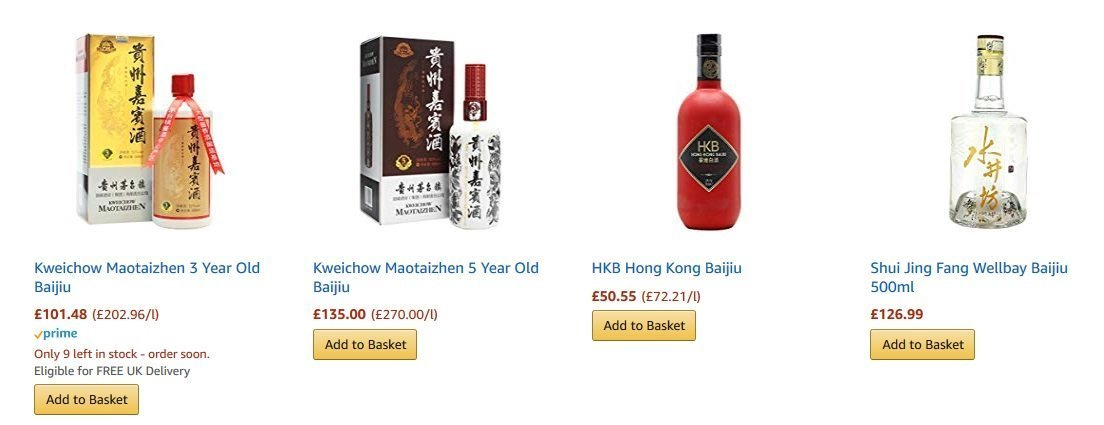 Baijiu for sale - Purchase baijiu brands online.