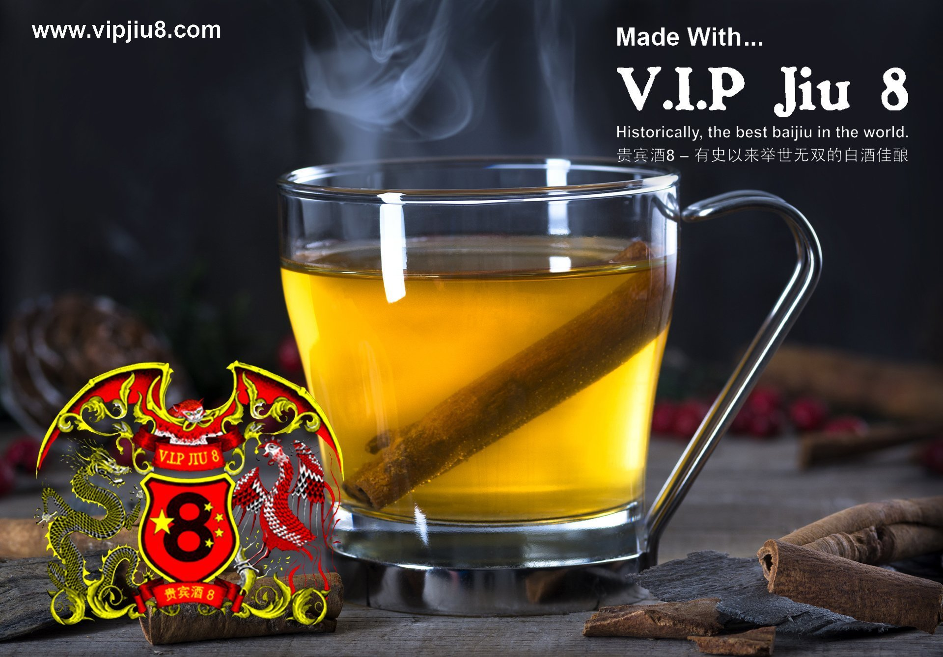 Traditional Easy Hot Toddy Recipes Made With V.I.P Jiu 8 Baijiu