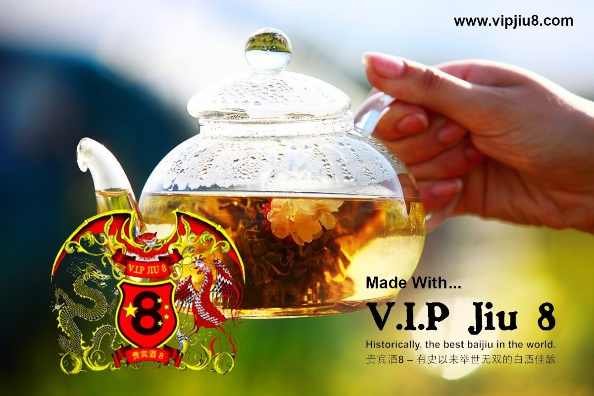 White Tea Infused Recipes With V.I.P Jiu 8: Baijiu Alcohol