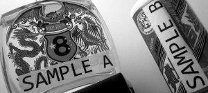Sample A and sample B